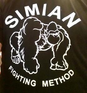 Simian Fight T Shirt Closeup