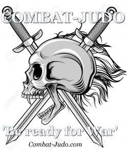 combat-judo blades skull white